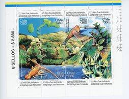 Chilie 2000-Colibris,langouste,bateaux,orchidées-YT 1517/24***MNH - Hummingbirds