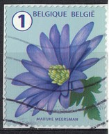 Belgique 2016 Oblitéré Used Flower Fleur Anémone SU - Belgique