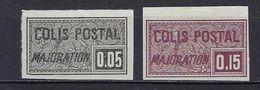 "FR Colis Postaux YT 17 & 18a "" Majoration Non Dentelé "" 1918 Neuf(*) - Paketmarken"