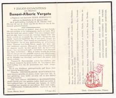 DP Benoni A. Vergote ° Meulebeke 1882 † 1947 X E. Herreman / Polfliet Benoot Claus Beert De Boevere Seynaeve - Images Religieuses