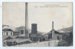 Cpa -   Dpt  - Gard  -  La Grand Combe  -briqueterie Et Usine Electrique  -  Animation -  (  Selection  )  - Rare   1907 - La Grand-Combe