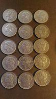 Lot De 15 Pièces 5 Francs Nickel 1933/1935 - France
