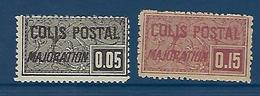 "FR Colis Postaux YT 15 & 16 "" Majoration Dentelé "" 1918 Neuf** - Paketmarken"