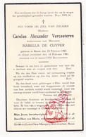 DP Carolus A. VerCauteren ° Boom 1865 † 1941 X I. De Cuyper - Images Religieuses