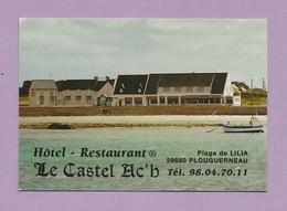 1792 - CARTE DE VISITE - Hôtel Restaurant LE CASTEL AC'H - 29 PLOUGUERNEAU - 2 - Cartes De Visite