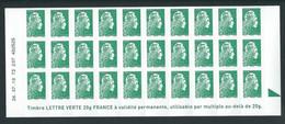 BLOC DE 30 TP ADHESIFS YSEULT YZ - L'ENGAGEE - DATE DU 26/07/18  - NON PLIE - NEUF - LETTRE VERTE - 2013-... Marianne Of Ciappa-Kawena