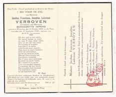DP Jacobus F. Verboven ° Westerlo 1884 † De Pinte 1947 X B. Impens / Reel Delcarte - Images Religieuses