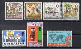 GIBRALTAR  Lot De  Timbres Neufs **  1981-1982  ( Ref 1048M )   Séries Complètes - Gibraltar