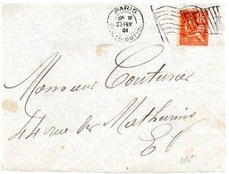 PARIS DISTRIBUTION 1901 =  FLAMME BICKERDIKE DRAPEAU BLANC - Marcophilie (Lettres)