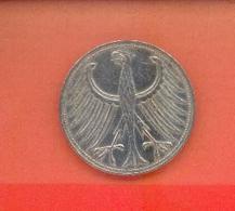 ALLEMAGNE - BUNDESREPUBLIEK : 5 MARK 1960 D - [ 6] 1949-1990 : GDR - German Dem. Rep.