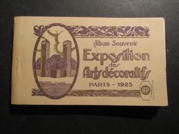 CARNET 40 CP FRANCE (V1823) Album Souvenir EXPOSITION Des ARTS DéCORATIFS (15 Vues) PARIS 1925 - Mostre