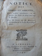 Arbres Et Arbustes Dans Le Limousin - 1790 EO - Livres, BD, Revues