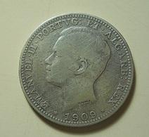 Portugal 200 Reis 1909 Silver - Portugal