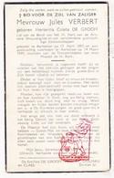 DP Hortentia C. De Grooff ° Aartselaar 1887 † 1949 X Jules Verbert / Daelman Claes - Images Religieuses