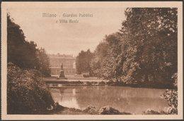 Giardini Pubblici E Villa Reale, Milano, C.1920 - Gustavo Modiano Cartolina - Milano (Milan)