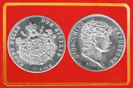 ITALIA 5 Lire 1813 Regno Di Napoli, Poi Delle Due Sicilie Giocchino Napoleone Murat  KM# 259 - Regional Coins