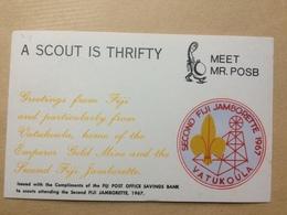 FIJI - 1967 Postcard - `A Scout Is Thrifty` - 2nd Fiji Jamborette - Fiji (...-1970)