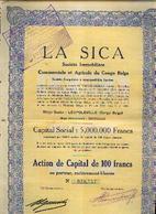 (LEOPOLDVILLE) « La SICA Société Immobilière, Commerciale Et Agricole Du Congo Belge SA » - Capital : 5.000.000 Fr ---> - Africa