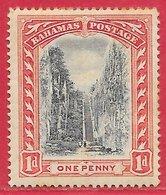 Bahamas N°24 1p Rouge Carminé & Noir 1901-02 * - Bahamas (...-1973)
