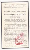 DP Maria D. Verlooy ° Diest 1864 † Antwerpen 1947 X Henricus Rom - Images Religieuses