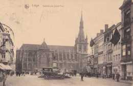 Liège - Cathédrale Saint-Paul - Circulé - Animée - Vieilles Voitures - TBE - Liege