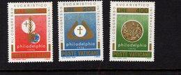 684614197 VATICAN 1976 POSTFRIS MINT NEVER HINGED POSTFRISCH EINWANDFREI SCOTT 592 594 41ST INTL EUCHARISTIC CONGRESS - Luxembourg