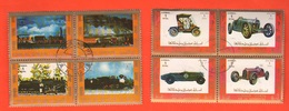 Ajman State 2 Quartine X 4 Fb Auto Cars Treni Trains Züge - Adschman