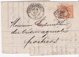 LAC - N° 48 OBL. GC De CHATELLERAULT / 8 MAI 71 - 1849-1876: Période Classique