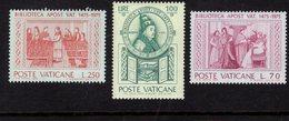684615100 VATICAN 1975 POSTFRIS MINT NEVER HINGED POSTFRISCH EINWANDFREI SCOTT 582 584 FIRST LIBRARIAN SACCHI - Luxembourg
