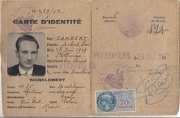Carte D'Identité Lambert Robert Léon 1952 - Cartes