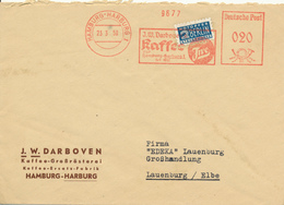 HAMBURG-Harburg - 1950 , J.W.DARBOVEN Kaffee - An EDEKA Lauenburg - Alimentation
