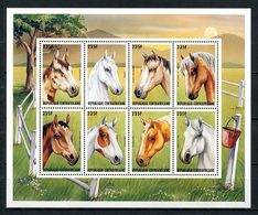 Centrafricaine 1997  N° 1189/1196 ** Neufs MNH Superbes C 10 € Faune Chevaux Horses Arabe Mustang Poney Animaux - Centrafricaine (République)