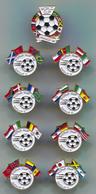 FOOTBALL / SOCCER / FUTBOL / CALCIO - FIFA WORLD CUP FRANCE 1998, Lot 9 Pieces Set, Pin, Badge, Abzeichen - Football