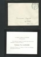 Remerciement Du Général Lajouanie Suite à La Mort Pr La France Du  Lieut. Yves Lajouanie Au Tonkin Le 1/02/1952  LX1007 - Obituary Notices