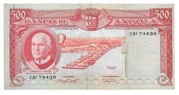 Billet De Quinhentos Escudos (500 Escudos) ANGOLA 1956 (Rhinocéros) - Angola
