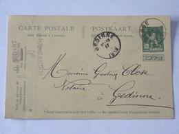 Entier Postal Envoyé De Sugny - Vresse Vers Gedinne En 1913 ... Lot7 . - Entiers Postaux