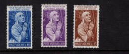 684616621 VATICAN 1967 POSTFRIS MINT NEVER HINGED POSTFRISCH EINWANDFREI SCOTT 335 337 ST CATHERINE OF SIENA - Luxembourg