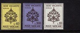 684616840 VATICAN 1967 POSTFRIS MINT NEVER HINGED POSTFRISCH EINWANDFREI SCOTT 362 364 KEYS OF ST PETER AND PAPAL - Luxembourg