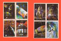 Umm Al - Qiwain 2 Quartine 4 Fb Spazio Space Astronauts Weltraum Astronauten Astronautes De L'Espace - Umm Al-Qiwain