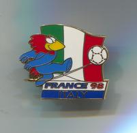 FOOTBALL / SOCCER / FUTBOL / CALCIO - FIFA WORLD CUP FRANCE 1998 ITALY, Enamel, Pin, Badge, Abzeichen - Football