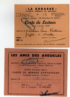 Carte De Soutien - La Godasse Feuillets Militaires 1940 - Les Amis Des Aveugles - Ghlin Lez Mons 1943 - Autres Collections
