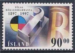 Iceland Island 1997 Mi 874 /5 SG 887 ** Cent. Formation Icelandic Printers Association / 100 Jahre Graphischer Verband - 1944-... Republiek