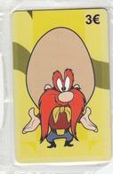 GREECE -  Looney Tunes Yosemite Sam , Amimex Prepaid Card 3 Euro, Tirage 2000,  Mint - Greece