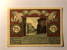 Allemagne Notgeld Allemagne Striegau 75 Pfennig - [ 3] 1918-1933 : République De Weimar