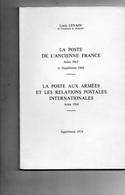 LENAIN Louis - La Poste De L'ancienne France La Poste  Suppléments 1974 - La Poste Aux Armées  Arles 1968 - France