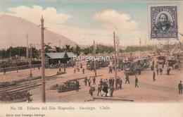 Chile SANTIAGO Ribera Del Rio Mapocho Trams  Ce271 - Chile