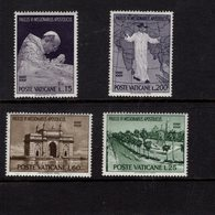 684622441 VATICAN 1964 POSTFRIS MINT NEVER HINGED POSTFRISCH EINWANDFREI SCOTT 400 403 POPE PAUL VI TRIP TO INDIA - Luxembourg