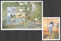 X776 TANZANIA FAUNA BIRDS 1BL+1KB MNH - Vögel
