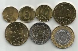 Argentina 1992-2013. 7 Coins Set ,high Grade - Argentine