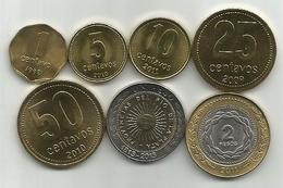 Argentina 1992-2013. 7 Coins Set ,high Grade - Argentina